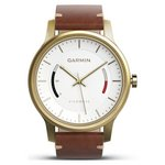 more details on Garmin vivomove Premium - Gold-Tone Steel and Leather.