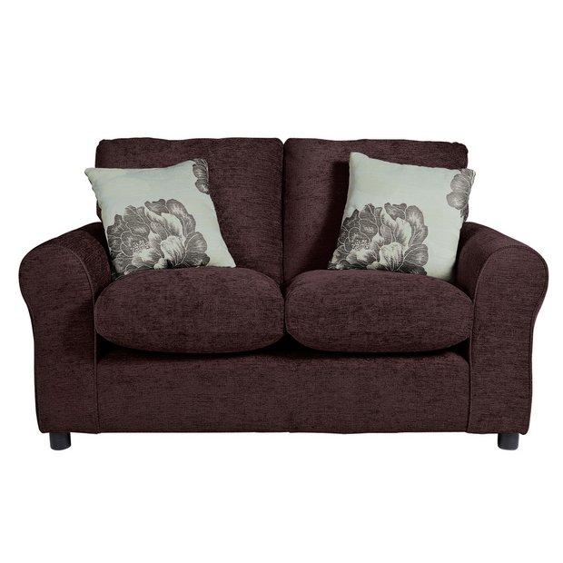 Buy home tessa compact 2 seater fabric sofa choc at your online shop for sofas Buy home furniture online uk