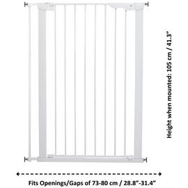 Scandinavian Pet Extra Tall Gate - White
