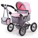 more details on Bayer Dolls Pram Trendy Pink Grey.