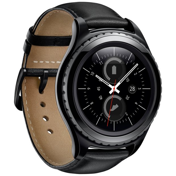 buy smart watches at argos co uk your online shop for technology more details on samsung gear s2 classic smartwatch black