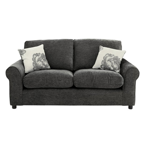 Buy Home Tessa Compact 3 Seater Fabric Sofa Charcoal At