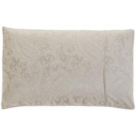 Julian Charles Paisley Pair of Housewife Pillowcases-Natural