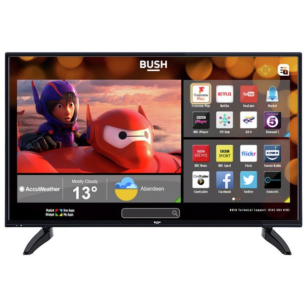 buy bush 49 inch fhd smart tv with freeview play at argos. Black Bedroom Furniture Sets. Home Design Ideas