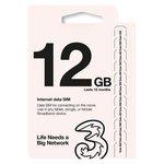 more details on Three 12GB Pay As You Go Trio Data Sim.