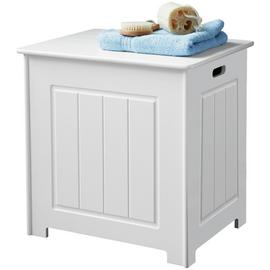 Premier Housewares Portland Wooden Storage Chest - White.
