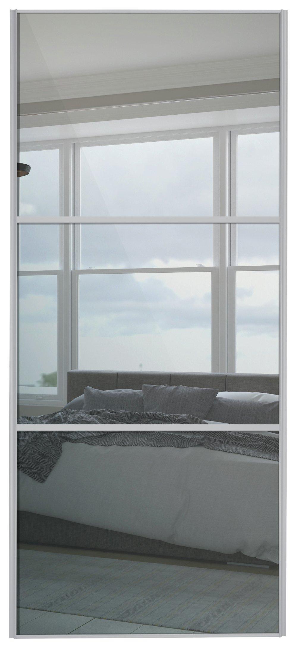 Sliding Wardrobe Door W762mm 3 Panel Silver Frame Mirror  sc 1 st  Argos & Sliding wardrobe doors | Argos pezcame.com