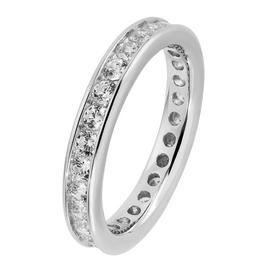 Revere Sterling Silver Cubic Zirconia Full Eternity Ring