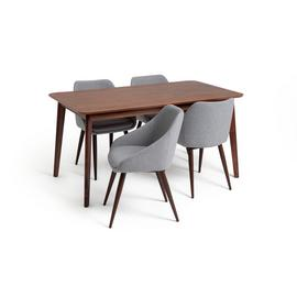 Argos Home Skandi Walnut Veneer Dining Table & 4 Chairs