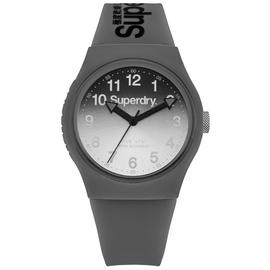 Superdry Men's Grey Silicone Strap Watch