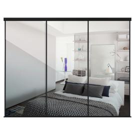 Sliding Doors and track W2672 Black Frame Mirror