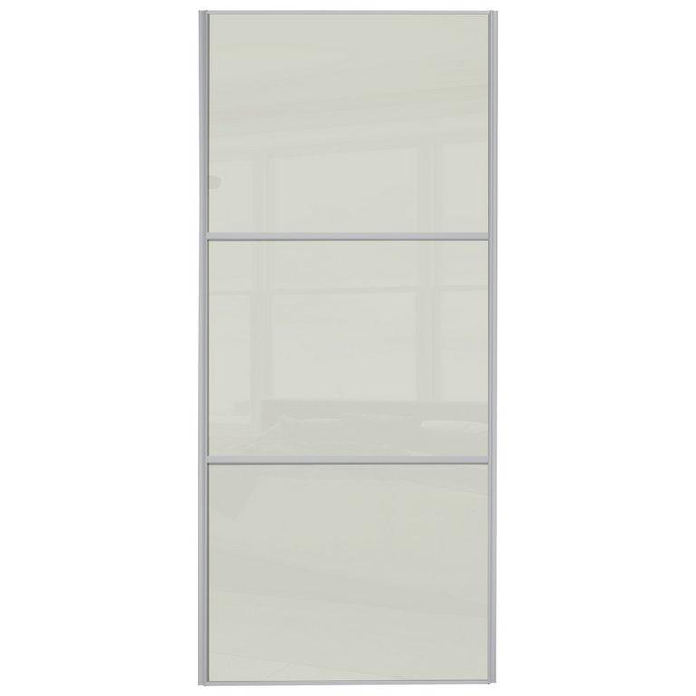 Buy Sliding Wardrobe Door W914mm 3 Panel Soft White Glass