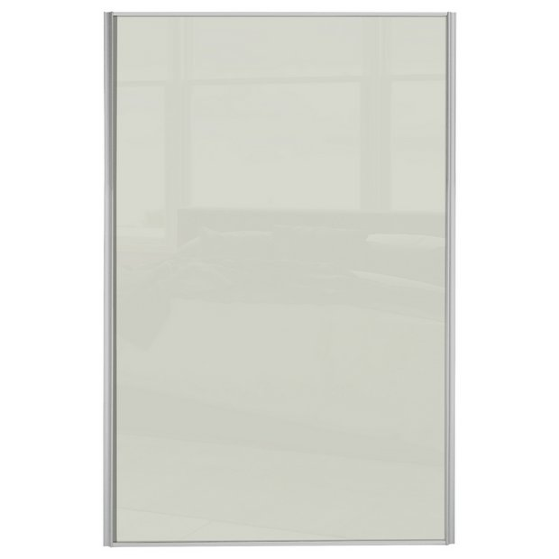 Buy Loft Sliding Wardrobe Door W610mm Soft White Glass At