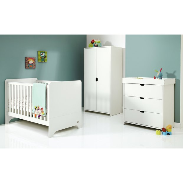 buy mamas and papas rocco 3 piece furniture set white at your online shop for. Black Bedroom Furniture Sets. Home Design Ideas
