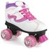 Xootz Disco LED Light Up Wheels Retro Quad Roller Size 13