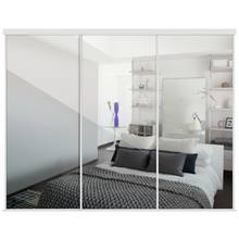Buy Sliding Wardrobe Door Kit W2692mm Soft White Glass At