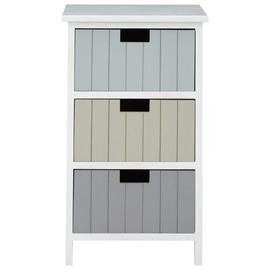 Premier Housewares New England 3 Drawer Chest - White.