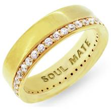 Revere Mens 9ct Gold Plated Silver 'Soul Mate' Ring