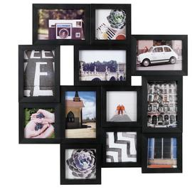 Argos Home 12 Aperture Photo Frame - Black