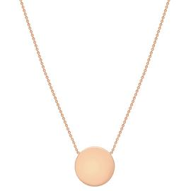 9ct Rose Gold Personalised Disc Pendant