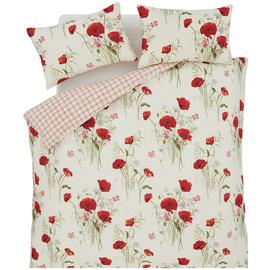 Catherine Lansfield Wild Poppies Bedding Set