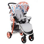 more details on My Babiie Billie Faiers MB30 Coral Chevron Pushchair.