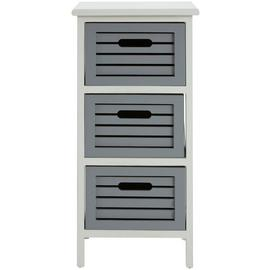 Premier Housewares Vermont 3 Drawer Unit - Grey.