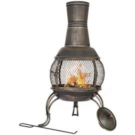 La Hacienda Medium Steel Chimenea - Bronze
