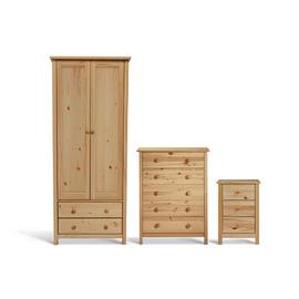 Argos Home Scandinavia 3 Piece 2 Door Wardrobe Set