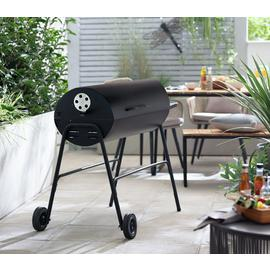 Argos Home Charcoal Oil Drum BBQ Cover & Utensils