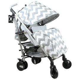 My Babiie Billie Faiers MB51 Grey Chevron Stroller