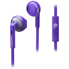 Philips SHE3205 In-Ear Headphones with Mic - Purple