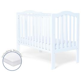Baby Elegance Sarah Cot and Mattress - White