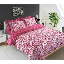 Pieridae Red Animal Print Bedding Set - Kingsize