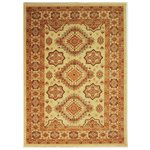 Pasha Emerald Chenille Rug - 160x230cm - Red and Gold
