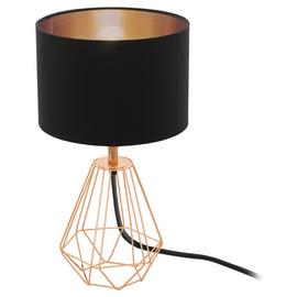 Eglo Carlton Vintage Table Lamp - Copper & Black