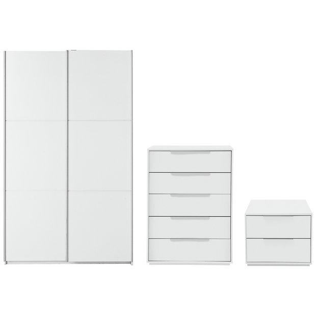 Buy Hygena Bergen 3 Piece Medium Wardrobe Package White At Your Online Shop For