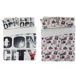 more details on HOME London Twin Pack Bedding Set - Double.
