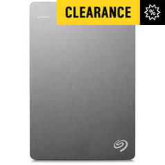 Seagate Backup Plus 4TB Portable Hard Drive - Silver