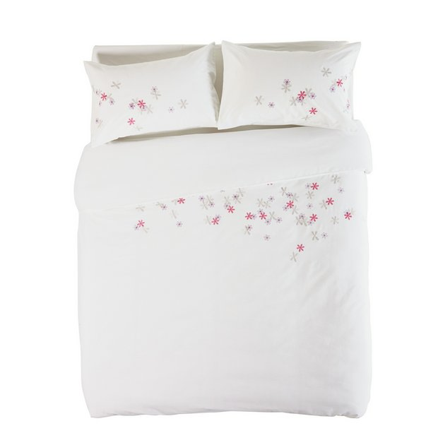 buy home embroidered petals bedding set kingsize at. Black Bedroom Furniture Sets. Home Design Ideas