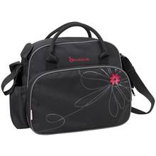 Badabulle Vintage Changing Bag - Black/Pink.