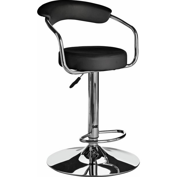 Buy Collection Executive Gas Lift Bar Stool Black At