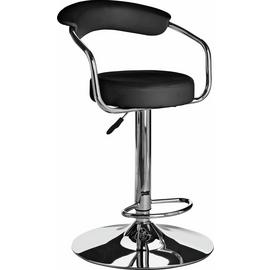 Argos Home Executive Gas Lift Bar Stool w/ Back Rest - Black