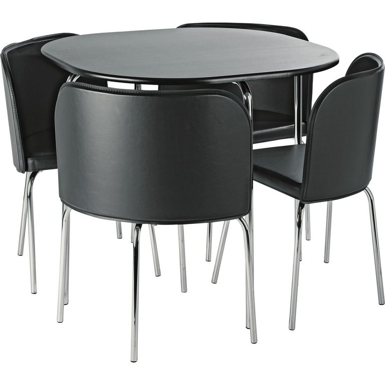 Buy Hygena Amparo Dining Table and 4 Chairs Black at  : 6001443RSETMain768ampw620amph620 from www.argos.co.uk size 620 x 620 jpeg 35kB
