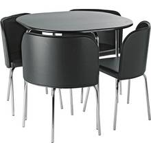 hygena amparo dining table 4 chairs black - Small Dining Table And Chairs