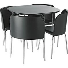 5fbc76d8c2de Argos Home Amparo Dining Table   4 Chairs - Black