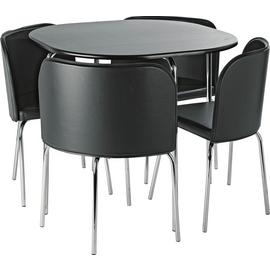 Argos Home Amparo Black Dining Table & 4 Black Chairs
