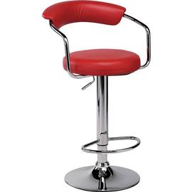 Argos Home Executive Gas Lift Bar Stool with Back Rest - Red