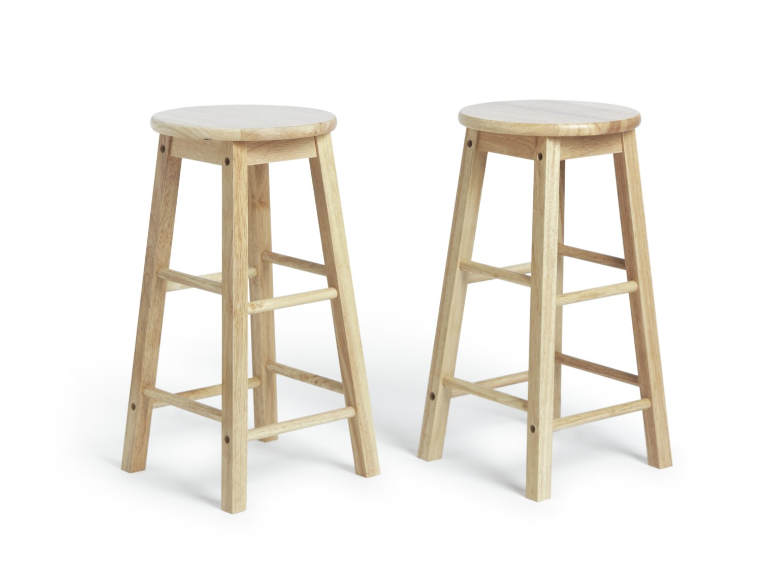 Simple Value Pair Of Solid Wood Kitchen Stools