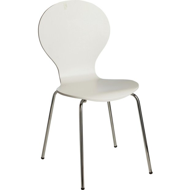 Buy ColourMatch Super White Bentwood Dining Chair At Argos